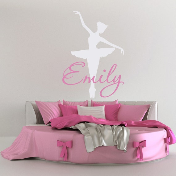 Ballerina Wall Decal, Dance Wall Decal, Personalized Girls Dance Decal,  Girl Name Wall Decal, Girls Bedroom Decor, Ballet Wall Decals M020