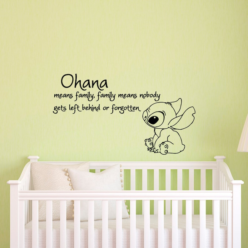 ohana means family means nobody get left behind or forgotten | etsy