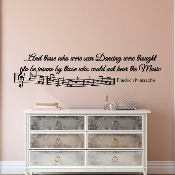 Music Notes Wall Decals Quotes Vinyl Lettering And Those Who Etsy