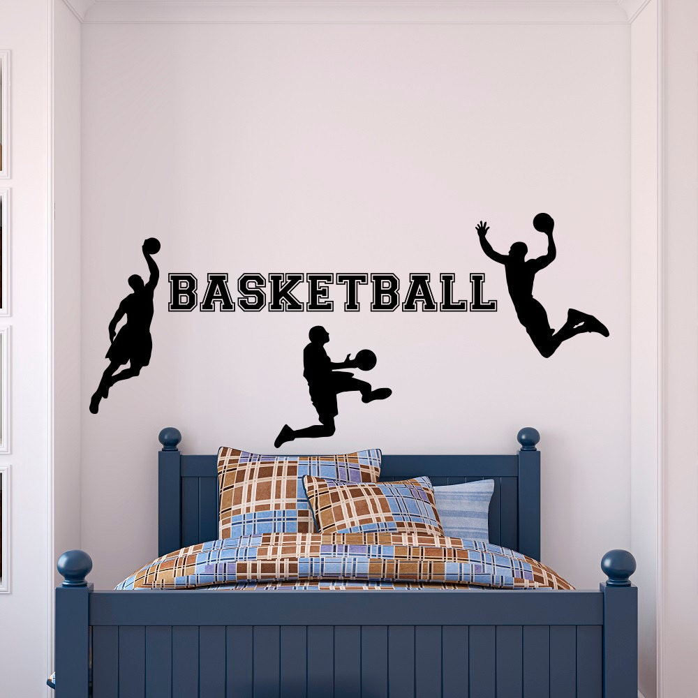 ed092c6d7140 Basketball Wall Decal- Sports Wall Decal Vinyl Stickers Basketball Player- Wall  Decal Kids Boy Room Wall Art Decor Basketball Gift Q124