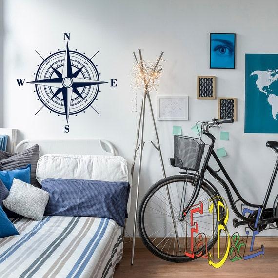 Schlafzimmer Dekor Wohnzimmer Kompass Wandkunst aus Metall Haus Compass Büro