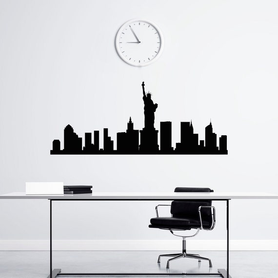 sc 1 st  Etsy : new york skyline vinyl wall decal - www.pureclipart.com