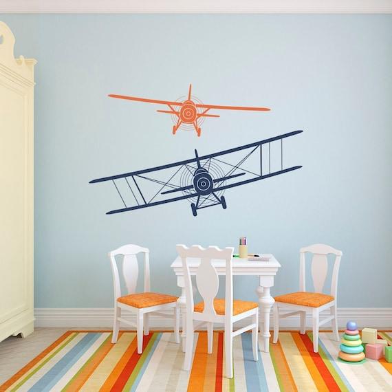 Custom Name Flying Paper Plane Vinyl Decal Wall Art Decor v2