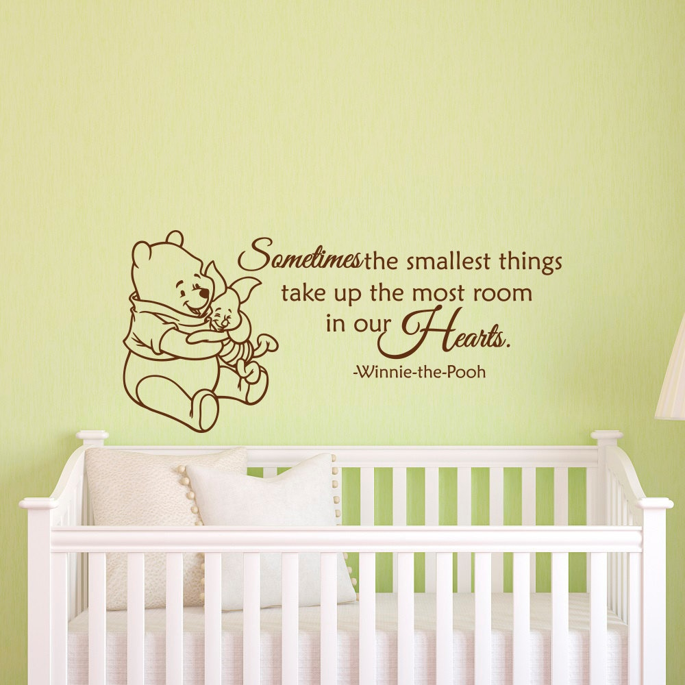 Winnie The Pooh Wall Decal Quote Sometimes The Smallest Things Etsy