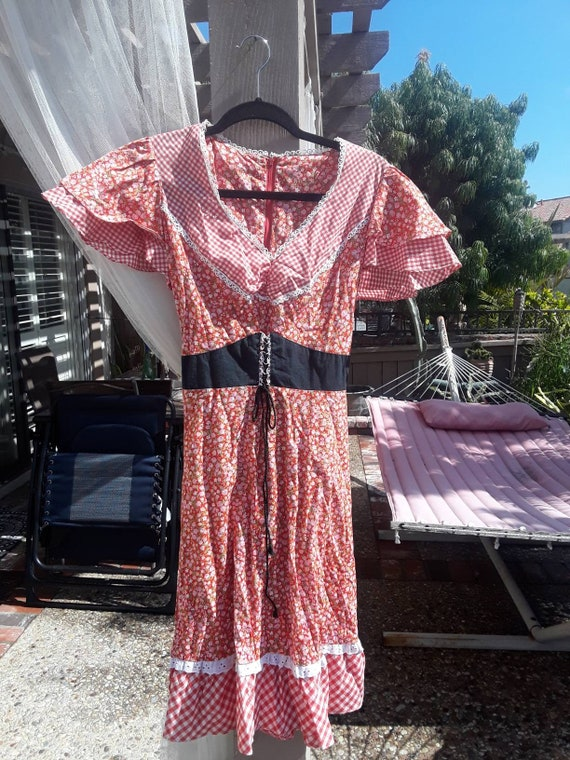 1960s hippie western dress