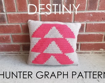 """Destiny """"Hunter"""" Inspired Graph Pillow - PATTERN ONLY"""
