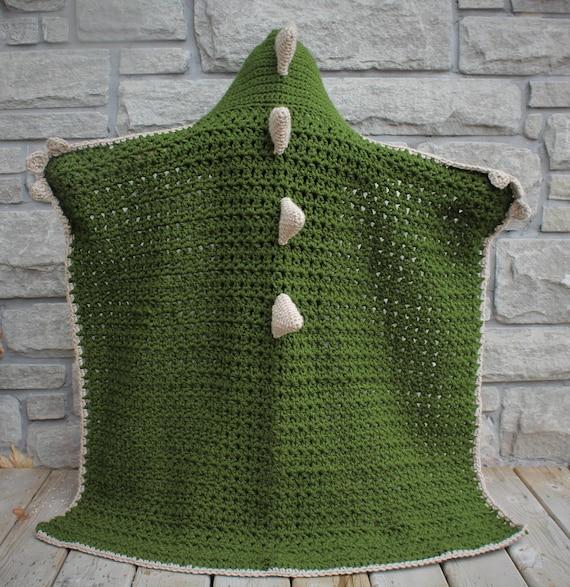 Crochet Dinosaurdragon Blanket With Hood Etsy