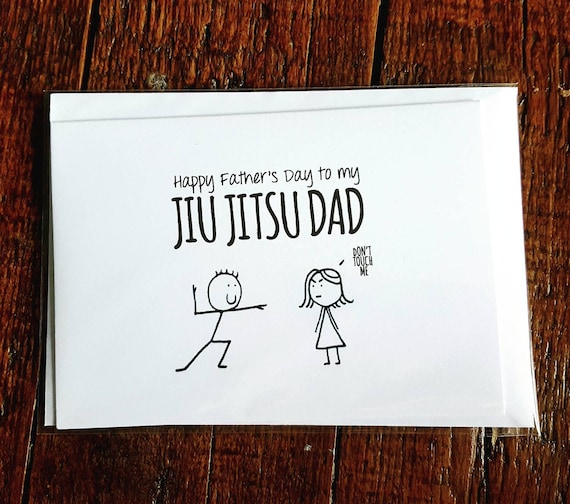 Items Similar To Fathers Day Jiu Jitsu Dad Card On Etsy