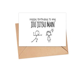 Happy Birthday Jiu Jitsu Card