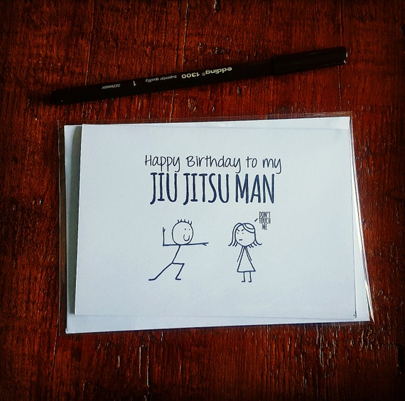 Happy Birthday Jiu Jitsu Card Etsy