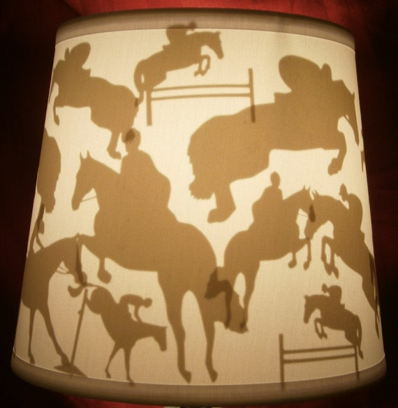 Hunterjumper horse lamp shade etsy image 0 aloadofball Image collections