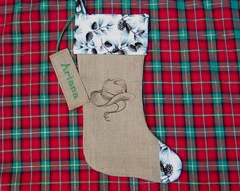 Western Christmas Stockings Personalized.Personalized Gifts Burlap Pillows Christmas By