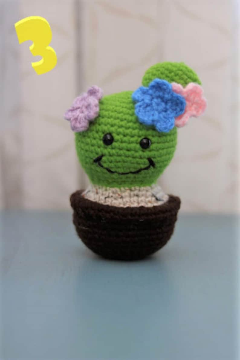 Happy Cactus Party Favor Handmade Present Crochet Cactus Handmade Cactus Birthday Gift