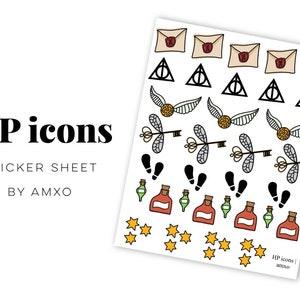 Mechanical Icon Foil Planner Sticker Sheet 56 pcs Gears Cogs
