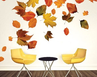 Autumn wall decals Etsy