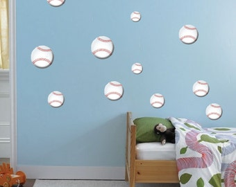 Baseball Wall Decals Boys Bedroom Baseball Wall Sticker Sports Bedroom  Wallpaper Boys Baseball Wall Decor Baseball Wallpaper Sport Art, N16