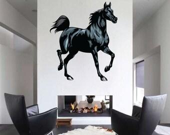 Horse Wall Decal Mural Art Design Decor Sticker Vinyl Wallpaper C46
