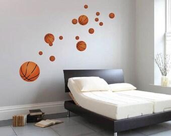Basketball Decals, Reusabel Basketball Murals, Sports Wall Decals, Kidu0027s Room  Basketball Wall Mural, Bedroom Basketball Decor, Sports, S02
