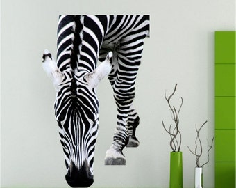 Zebra wall decal Etsy