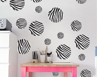 Zebra Print Polka Dot Wall Decal Wall Decal Zebra Print