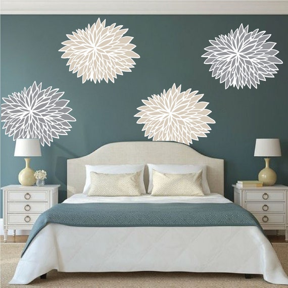 Bedroom Flower Wall Decals Bedroom Wall Flowers Beautiful Flowers For Bedroom Walls Floral Wall Art Stickers Flower Wall Art D49