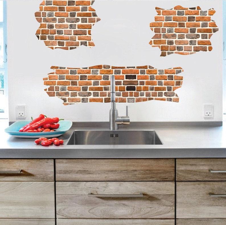 Brick Decal Brick Wall Mural Designs Brick Wall Art Etsy