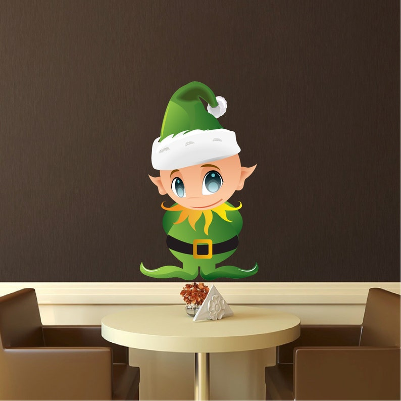 Naklejki Na Sciane Christmas Elf Naklejki Na Sciane Biegun Etsy