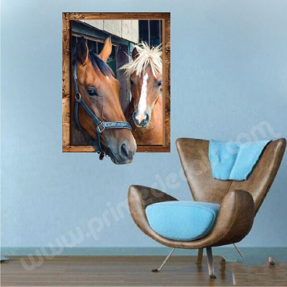 horse murals decals horse portraits horse picuture sticker | etsy