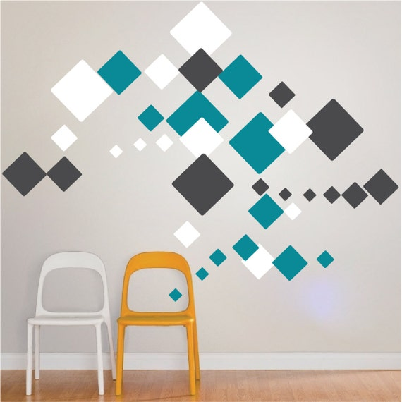 Square wall decals square wall stickers square wall designs square wall art decor square wall graphics square wall stickers d37