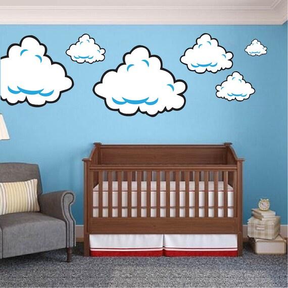 Super Mario Room Cloud Wall Decal Stickers, Bedroom Cloud Wall Murals,  Super Mario Wall Mural Decals, Nintendo Wall Designs, Cloud Art, b98