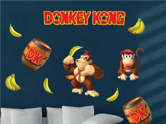 Donkey Kong Decal Donkey Kong Wall Decal Donkey Kong Wall | Etsy