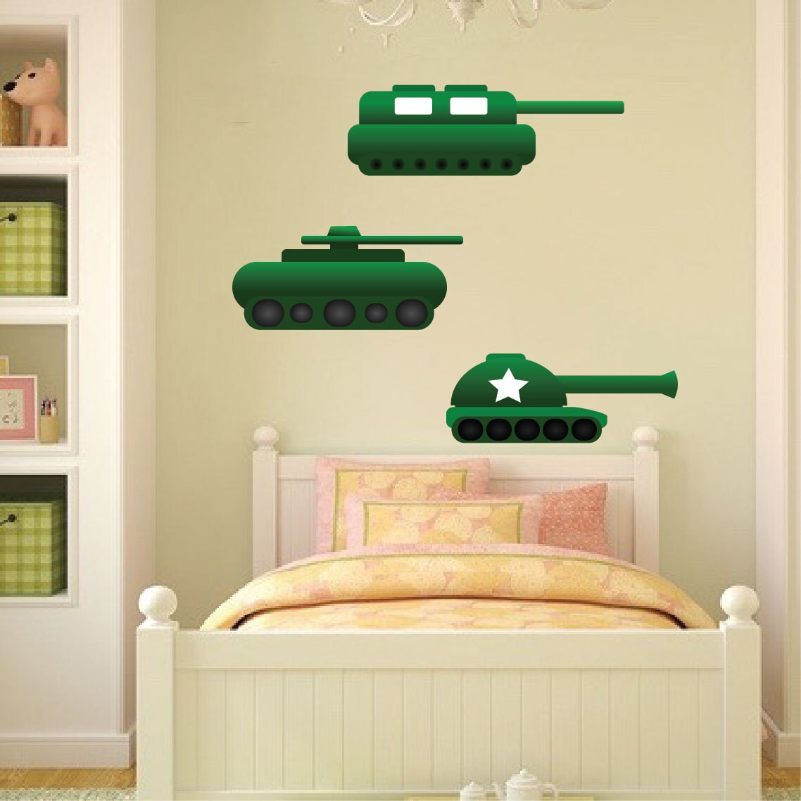 Tank Wall Decals Kid\'s Room Battle Decals Army Wall | Etsy