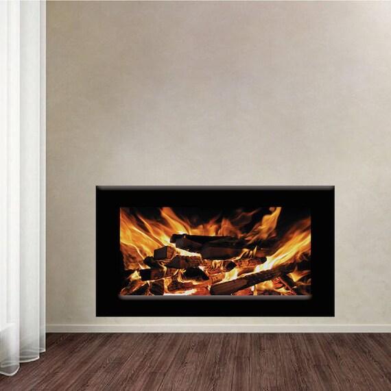 Kamin Wand Aufkleber Feuer Grube Wand Aufkleber Wohnzimmer Gas   Etsy