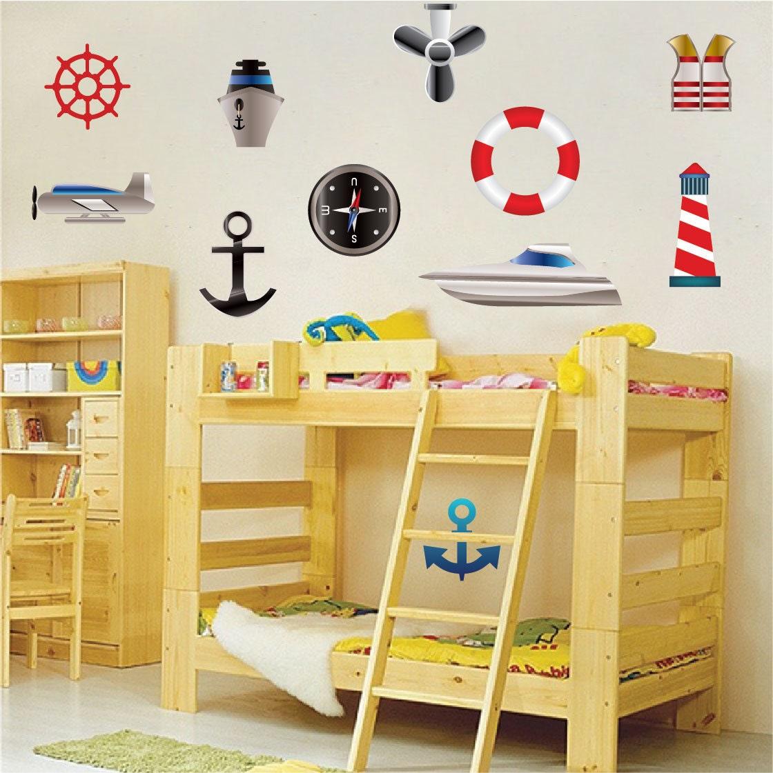 Sailor Decals Kids Sailor Bedroom Decor Boys Room Decals   Etsy
