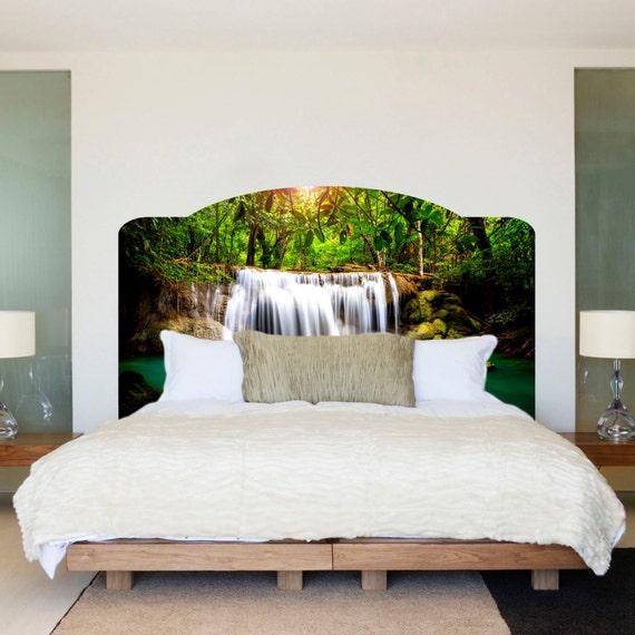 Waterfall Bed Headboard Wall Mural Waterfall Headboard Art | Etsy