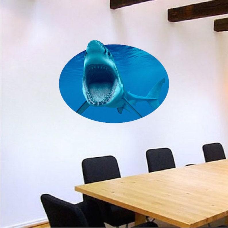 c25 Shark Decals Ocean Shark Murals Bedroom Shark Sticker Shark Wall Cling Ocean Shark Wallpaper Shark Wall Design Shark Room Decal Decor