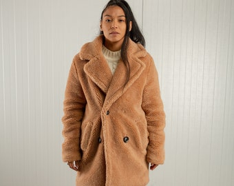 Marc Dominique 80/'s fun fur mink coat  jacket eighties fake Paris Faux