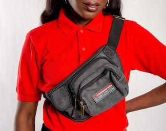 b3edb0151b4 Gray fanny pack with logo, Vintage festival waist bag, Grey vintage bumbag  travel wallet bag, Pouch bag, 90s Waist bag, Polyester Belt bag