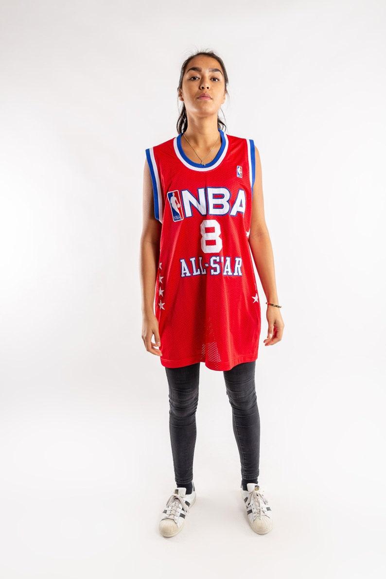 Vintage NBA All star jersey / Kobe Bryant basketball jersey / Red blue jersey / Hip hop jersey / NBA / Oversized basketball tee / Size XXL