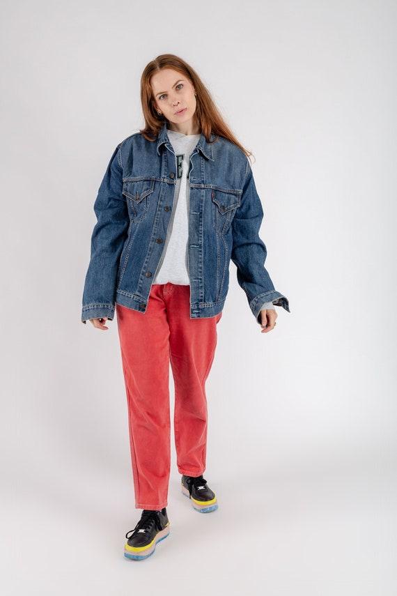 Es Herren Xxl Übergroße Trucker Waschen Jeansjacke Levi Größe Damen Vintage Mittlere Strauss oCQdxWrBe