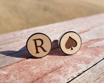 Custom Cuff Links. Your Choice Letters or Symbols.