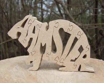 hamster jigsaw, hamster ornament, hamster puzzle,hamster gift, pet hamster memorial, hamster lover gift, unique hamster gift,