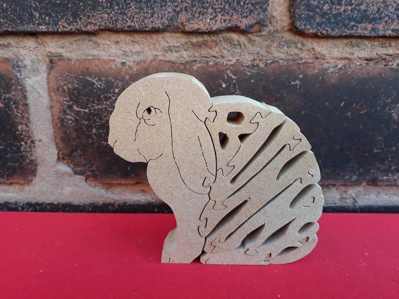 Lop Eared Bunny Bunny Rabbit Bunny Gift Bunny Ornament Wooden Bunny Wood Rabbit Lop Eared Rabbit Unique Bunny Gift