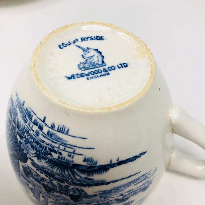 Vintage Enoch Wedgwood Countryside Cup And Saucer English Transfer Ware Sold Individually