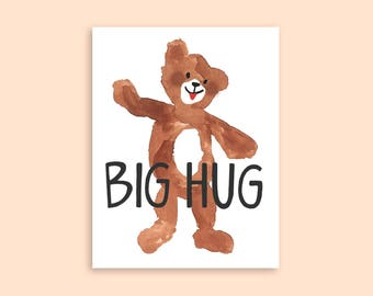Bear Hug A2 Greeting Card