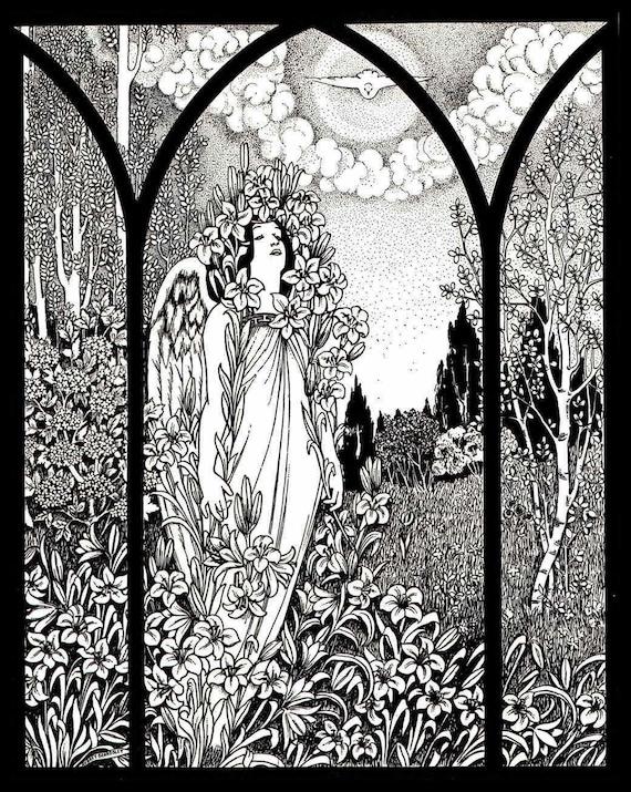 BEARDSLEY Aubrey Art Nouveau Vintage Art Poster Print A4 Satin//Glossy Gift