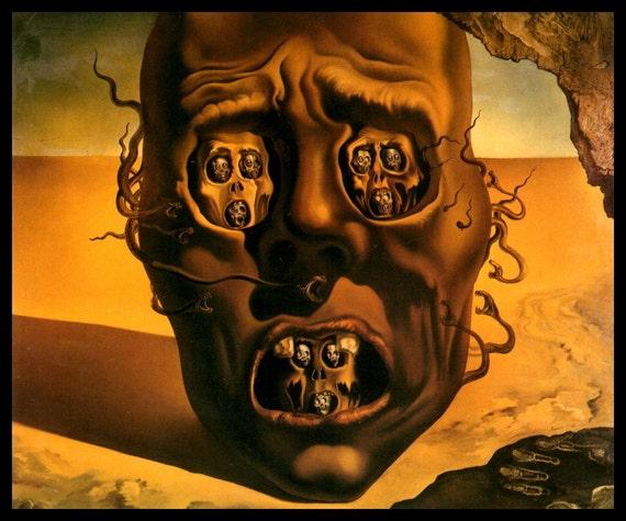 Salvador Dali Painting Le Visage De La Guerre Etsy