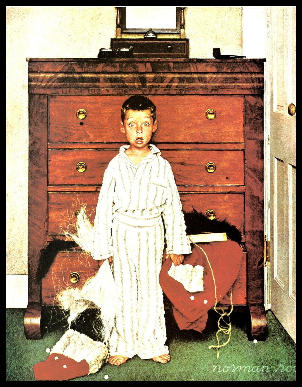Norman Rockwell Print Truth About Santa or   Etsy