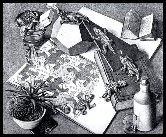 MC Escher Print, Escher kunst,