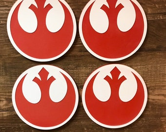 Rebel Alliance Red Acrylic Coaster Set of 4